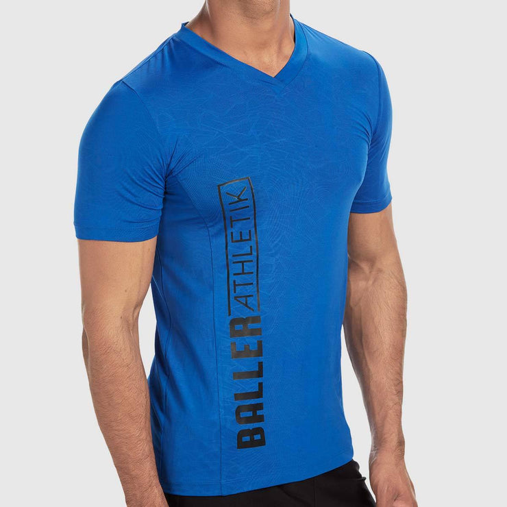 V-neck Tee - Electric Blue