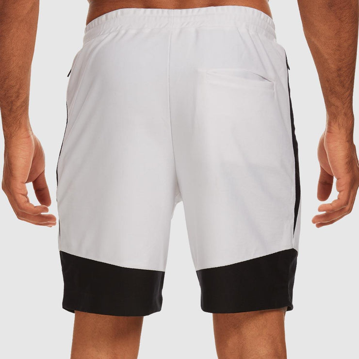 Colourblock Shorts - Black and White