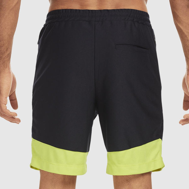 Colourblock Shorts - Blue and Lime