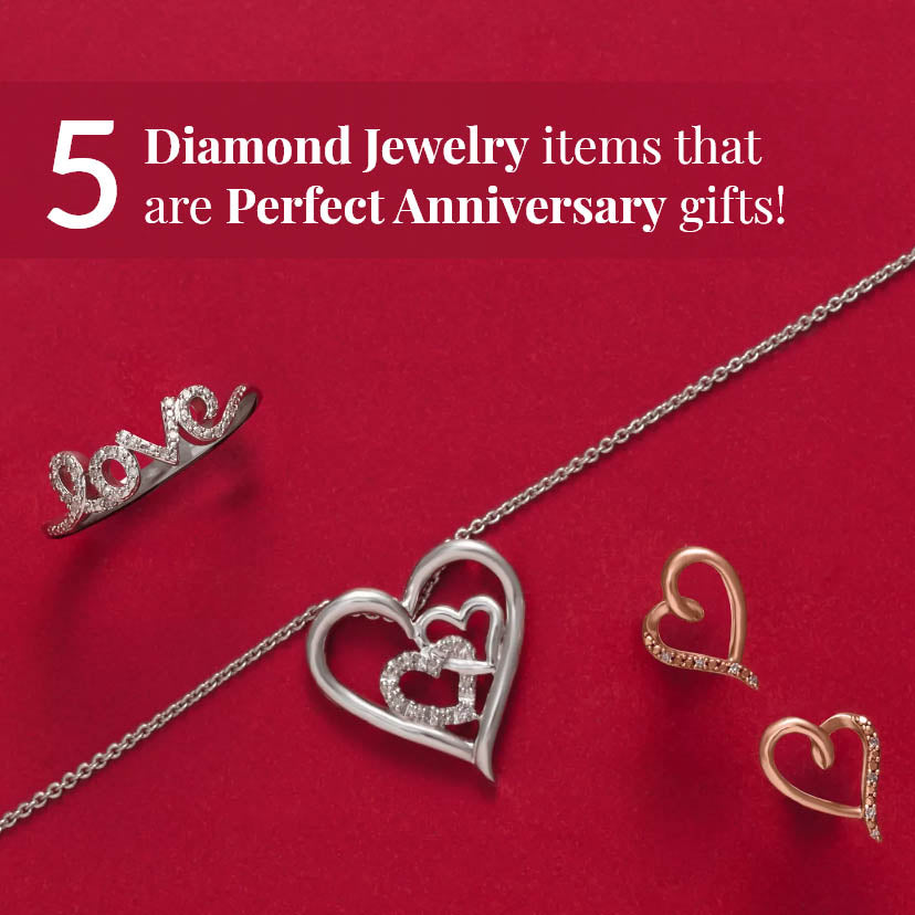 5 Diamond Jewelry Items for the Perfect Anniversary Gifts