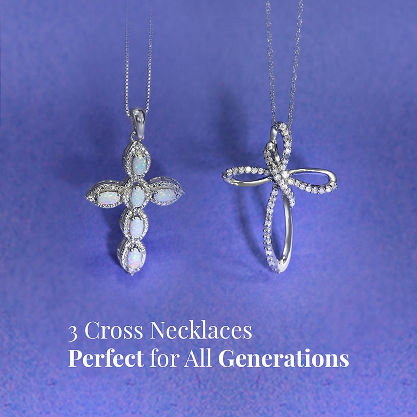 3 Cross Necklaces Perfect for All Generations