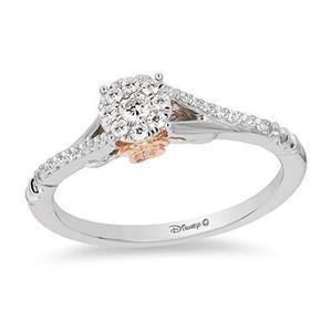 Disney Inspired Belle Promise Ring with Rose Gold