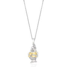 Load image into Gallery viewer, Enchanted Disney Fine Jewelry Yellow Gold Over Sterling Silver with 1/10Cttw Diamond Snow White Dwarf Pendant