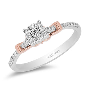 Diamond Ring with White & Rose Gold