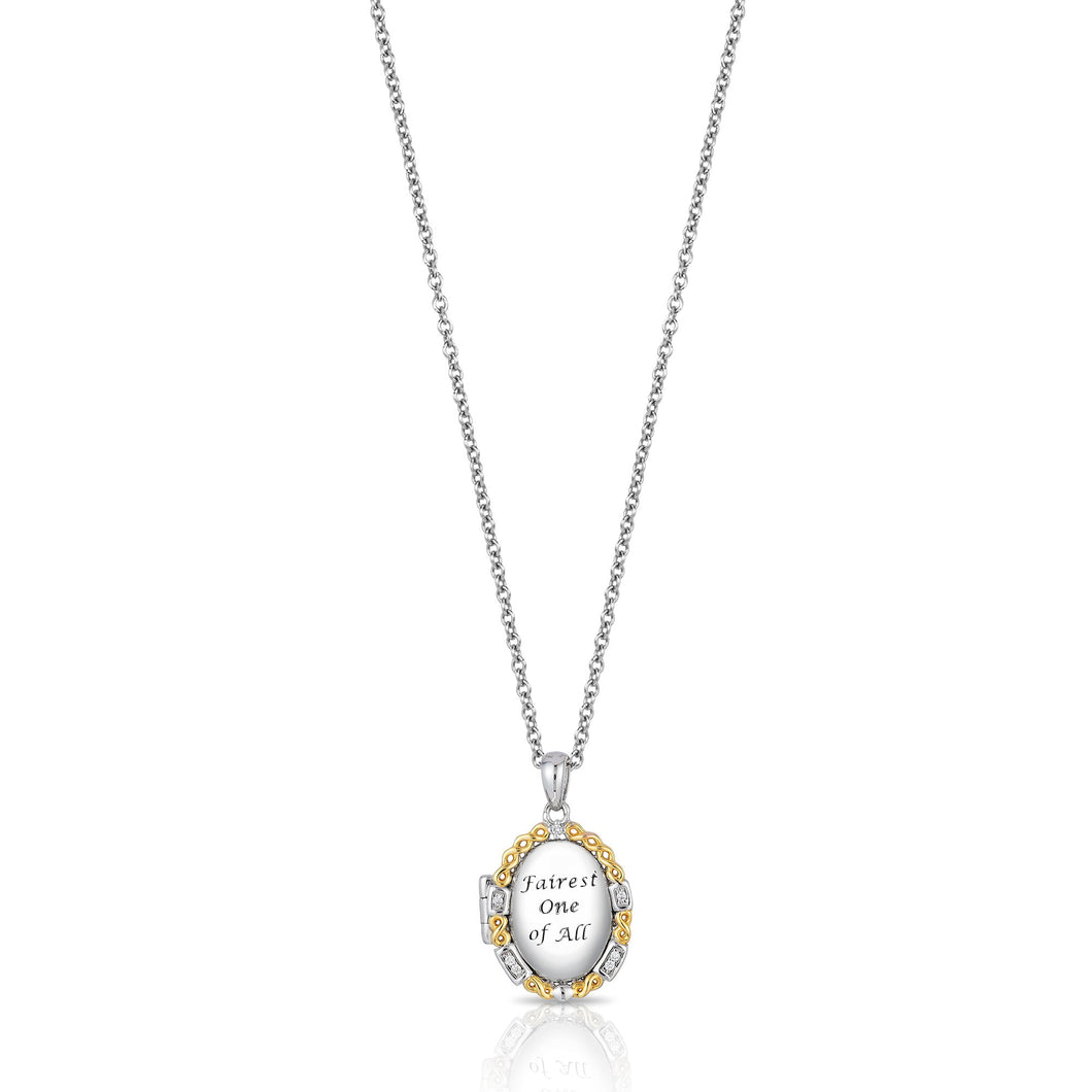 Enchanted Disney Fine Jewelry 14K Yellow Gold over Sterling Silver with Diamond Accent Snow White Pendant