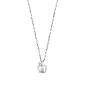 Enchanted Disney Fine Jewelry Rose Gold Plating Sterling Silver Diamond Accent Snow White Pendant