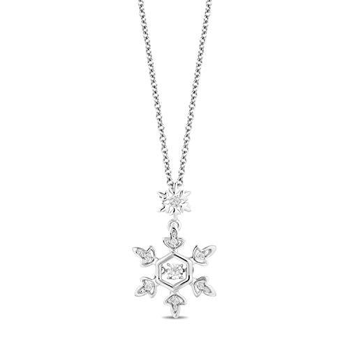 Enchanted Disney Fine Jewelry Sterling Silver with Diamond Accent Elsa Snowflake Pendant
