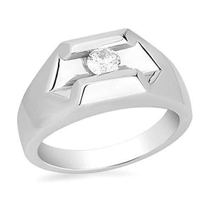 Jewelili 10K White Gold With 3/8CTTW Diamond Ring
