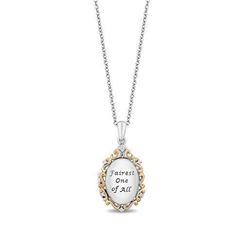 Enchanted Disney Fine Jewelry 10K Yellow Gold and Sterling Silver Diamond Accent Snow White Fashion Pendant