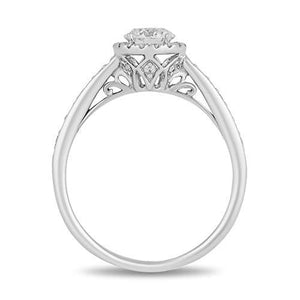 Enchanted Disney Fine Jewelry 14K White Gold 3/4 CTTW Diamond Majestic Princess Ring