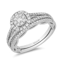 Load image into Gallery viewer, Enchanted Disney Fine Jewelry 14K White Gold with 5/8 cttw  Majestic Princess Bridal Set Ring