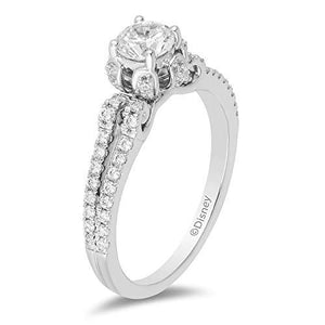 Enchanted Disney Fine Jewelry 14K White Gold 7/8Cttw Cinderella Carriage Engagement Ring