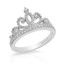 Load image into Gallery viewer, Enchanted Disney Fine Jewelry Sterling Silver 1/5Cttw Majestic Princess Tiara Ring