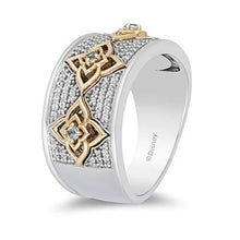 Load image into Gallery viewer, Enchanted Disney Fine Jewelry Sterling Silver And 10K Yellow Gold With 1/5Cttw Diamond Aladdin Live Action Ring