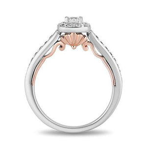 Enchanted Disney Fine Jewelry 14K White and Rose Gold With 1/2 cttw Diamond Ariel Engagement Ring
