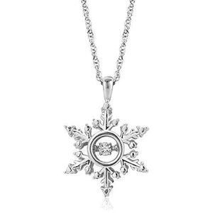 Enchanted Disney Fine Jewelry Sterling Silver Diamond Accent Elsa Twinkling Diamond Pendant