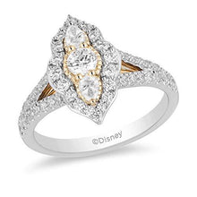 Load image into Gallery viewer, Enchanted Disney Fine Jewelry 14K White and Yellow Gold With 1.00 cttw Diamond Jasmine Engagement Ring