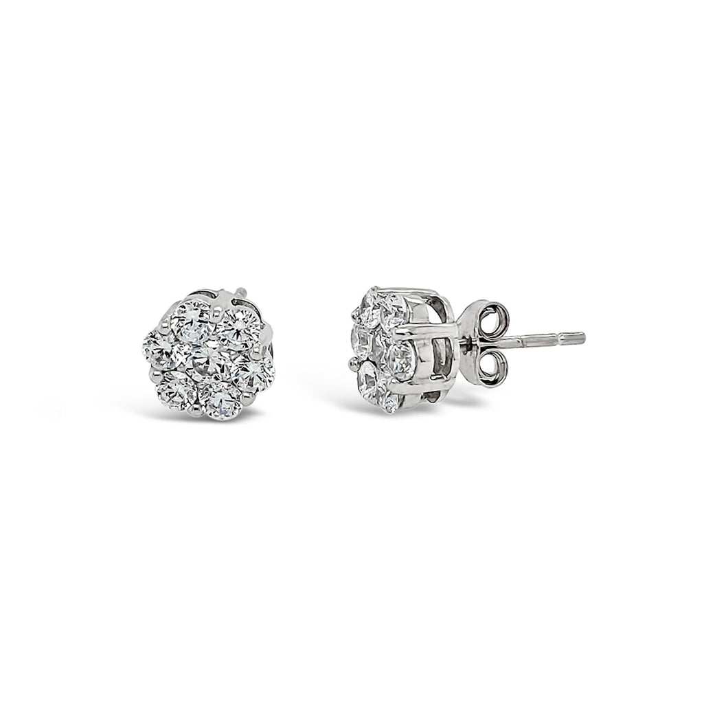 Made for You 14K White Gold 1 1/2 cttw Lab-Grown Diamond Earrings