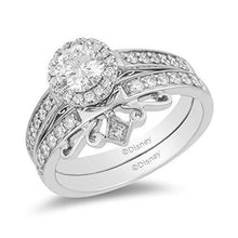Load image into Gallery viewer, Enchanted Disney Fine Jewelry 14K White Gold 3/4 CTTW Diamond Majestic Princess Ring