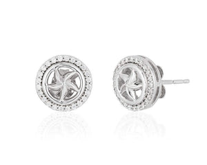 Enchanted Disney Fine Jewelry Sterling Silver 1/5CTTW Ariel Starfish Earrings