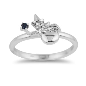 Enchanted Disney Fine Jewelry Sterling Silver Blue Sapphire Aurora Merriweather Ring