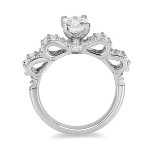 Enchanted Disney Fine Jewelry 14K White Gold 1 3/4Cttw Snow White Bridal Ring