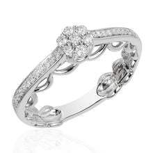 Load image into Gallery viewer, Enchanted Disney Fine Jewelry 14K White Gold 1/4Cttw Cinderella Ring