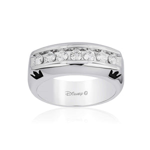 Enchanted Disney Fine Jewelry 14K White Gold 3/4 Cttw Mens Ring