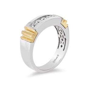 Enchanted Disney Fine Jewelry 14K White and Yellow Gold 1/3 Cttw Mens Ring