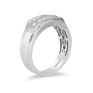 Enchanted Disney Fine Jewelry 14K White Gold 1/4 Cttw Mens Ring