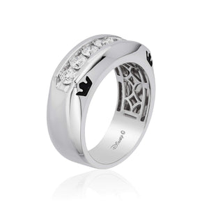 Enchanted Disney Fine Jewelry 14K White Gold 1.00 Cttw Mens Ring