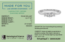 Load image into Gallery viewer, Classic Triad Lab-Grown Diamond Ring in 14kt Gold with 1/2 CTTW