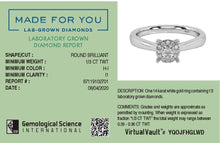 Load image into Gallery viewer, Radiant Classic Lab-Grown Diamond Ring in 14kt Gold with 1/3 CTTW