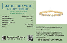 Load image into Gallery viewer, Nexus Lab-Grown Diamond Bracelet in 14kt Gold with 1/2 CTTW