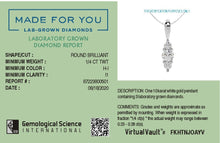 Load image into Gallery viewer, Trinity Lab-Grown Diamond Pendant in 10kt Gold with 1/4 CTTW