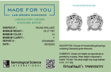 Load image into Gallery viewer, Glizmo Lab-Grown Diamond Studs in 10kt Gold with 1/6 CTTW
