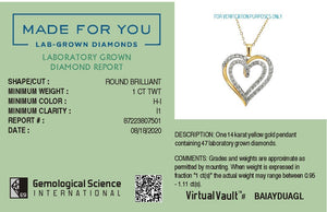 Ritual of Love Lab-Grown Diamond Pendant in 14K Gold with 1.0 CTTW
