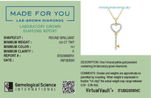 Load image into Gallery viewer, Key on a Chain Lab-Grown Diamond Pendant in 14K Gold with 1/4 CTTW