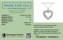 Load image into Gallery viewer, Love Struck Lab-Grown Diamond Pendant in 14K Gold with 1.0 CTTW