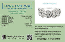 Load image into Gallery viewer, Infinite Ribbon Lab-Grown Diamond Ring in 14K Gold with 1/2 CTTW