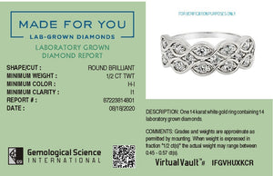 Infinite Ribbon Lab-Grown Diamond Ring in 14K Gold with 1/2 CTTW