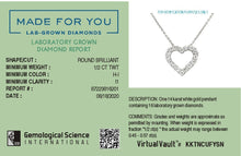 Load image into Gallery viewer, Dream of Love Lab-Grown Diamond Pendant in 14K Gold with 1/2 CTTW