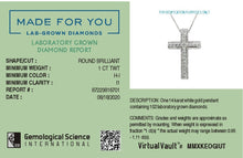 Load image into Gallery viewer, Made for You 14K White Gold 1 cttw Lab-Grown Diamond Pendant Necklace