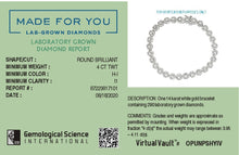 Load image into Gallery viewer, Flower Links Lab-Grown Diamond Bracelet in 14K Gold with 4 CTTW