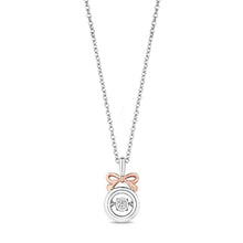 Load image into Gallery viewer, Enchanted Disney Fine Jewelry 14K Rose Gold over Sterling Silver with 1/20 cttw Snow White Necklace