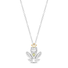 Load image into Gallery viewer, Enchanted Disney Fine Jewelry Sterling Silver and 10K Yellow Gold Diamond Accent and Peridot Fashion Tiana Pendant.
