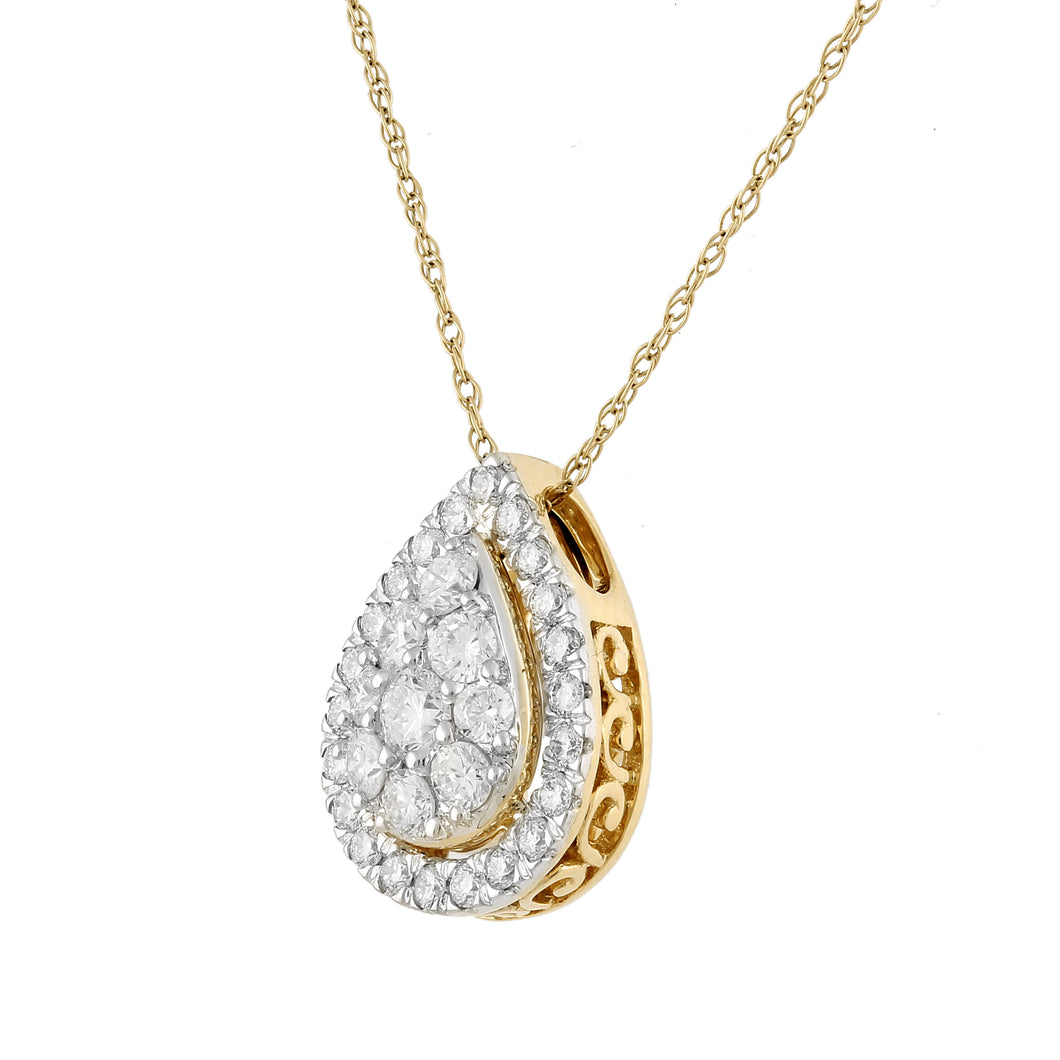 Pleri Lab-Grown Diamond Pendant in 14K Gold with 5/8 cttw