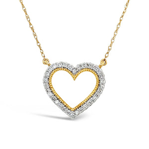 Heart Ablaze Diamond Pendant in 14K Gold with 1/4 CTTW