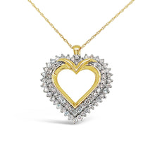Load image into Gallery viewer, Mighty Heart Lab-Grown Diamond Pendant in 14K Gold with 1.0 CTTW