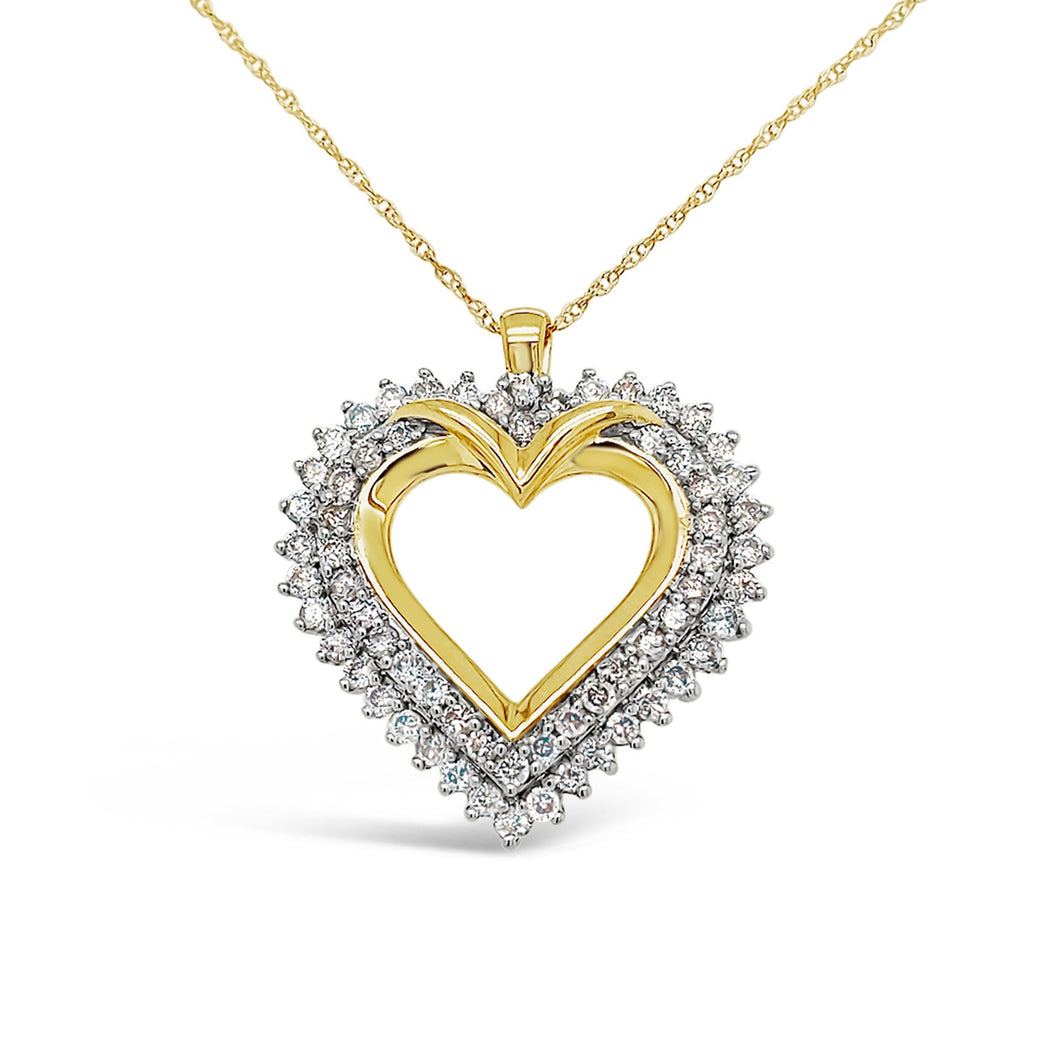 Mighty Heart Lab-Grown Diamond Pendant in 14K Gold with 1.0 CTTW